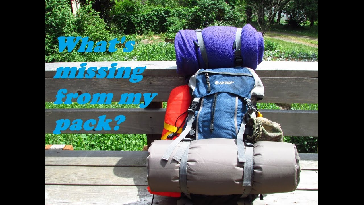 Backpack load out for a hike in camping trip - YouTube