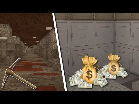 UNDERGROUND TUNNEL BANK HEIST! - Voxel Turf Gameplay - Base Building & Bank Heist!