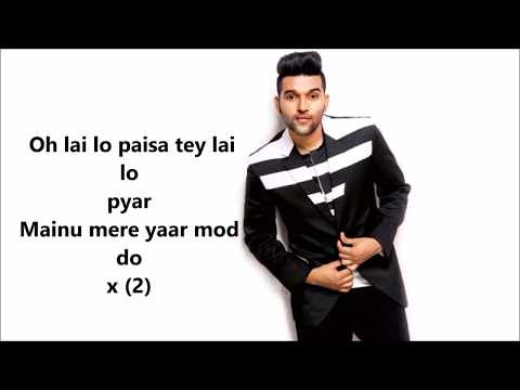 Yaar Mod Do ( Lyrics) - Guru randhwa, Millind Gaba