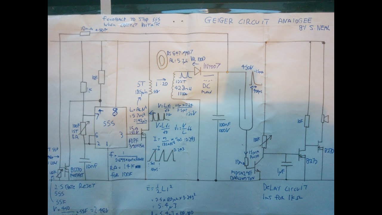 Simple Analogue High Voltage Geiger Counter Circuit Using 555 Timer With Usb Interface Schematics