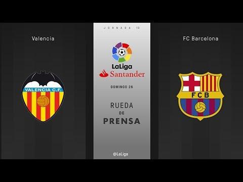 Rueda de prensa Valencia vs FC Barcelona