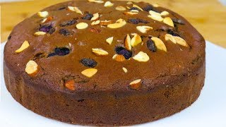 PRESSURE COOKER Eggless Chocolate cake  DryFruit Cake Recipe Without Egg Without Oven