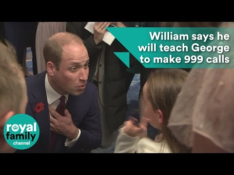 William says he will teach George to make 999 calls