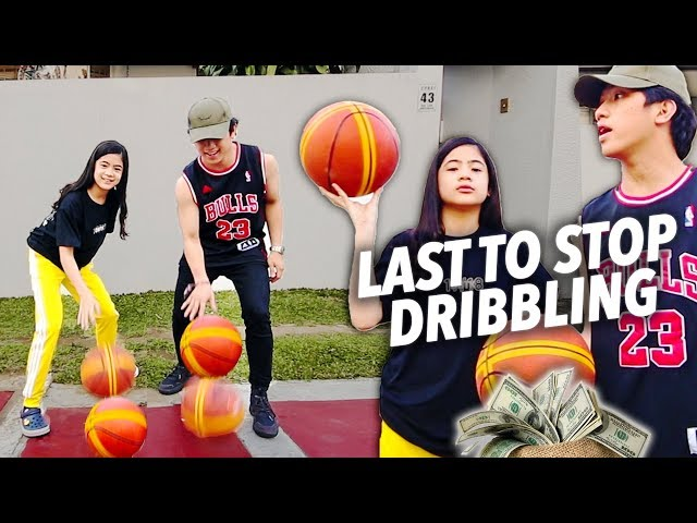 LAST TO STOP DRIBBLING WINS 10,000!! | Ranz and Niana