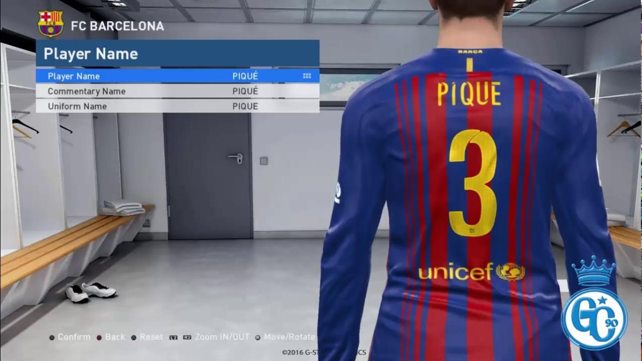 PES 2017 Barcelona Rakuten Kit HD 2017-18 By Geo Craig90 - YouTube 543c10a264d5