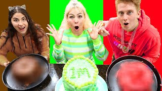 ONLY USING 1 COLOR TO MAKE 1 MILLION SUBSCRIBER CAKE CHALLENGE!