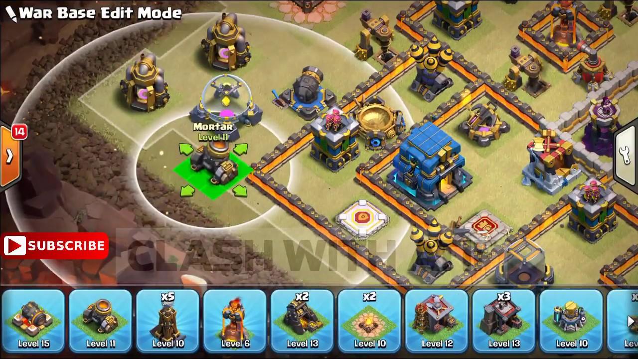 NEW TH12 WAR BASE Layout With ( COPY Link )TH12 Clan War League War Base  2018    Anti 3 Stars Base