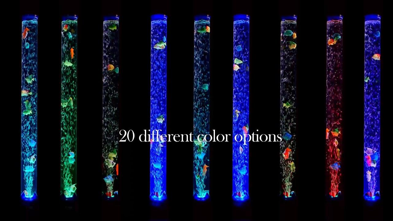 Sensorymoon Bubble Tube Fish Floor Lamp Youtube