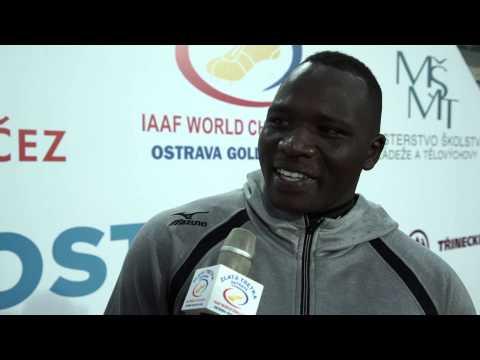 Julius Yego - interview after Ostrava Golden Spike 2015