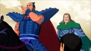 la increible risa de Wang Qi del anime de kingdom The amazing laugh...
