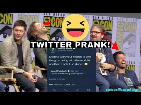 Jared Padalecki and Misha Collins Lose It! Over THAT Twitter Prank SDDCC 2017