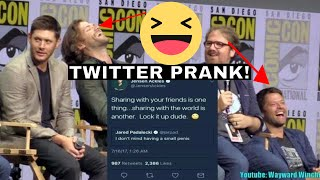 Jared Padalecki and Misha Collins Lose It! Over THAT Twitter Prank SDCC 2017
