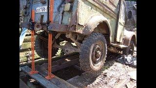 Заброшенный  ГАЗ -69  простоял 15 лет у деда .