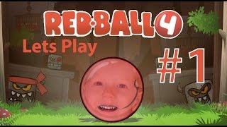 играем в мультяшную игру Red Ball 4 прохождение Lets Play RED BALL 4 Kids gaming