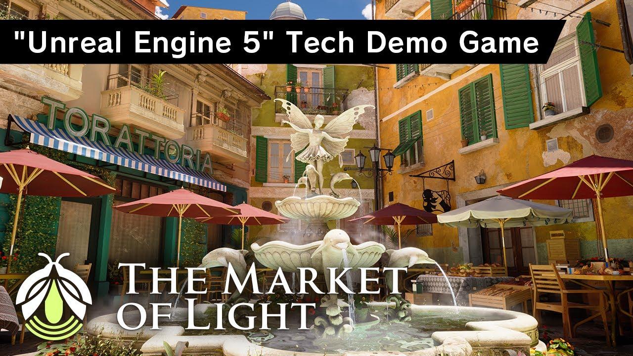 Обложка видеозаписи UE5 Tech Demo Game : The Market of Light – PV | historia