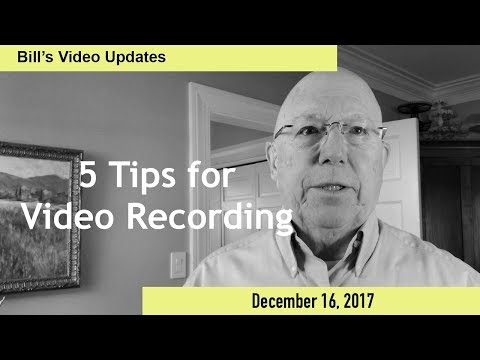 5 Tips for Video Recording Yourself