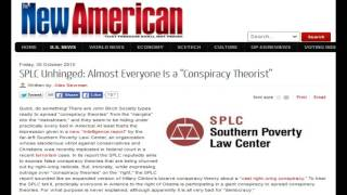 """SPLC Unhinged: Almost Everyone Is a """"Conspiracy Theorist"""""""