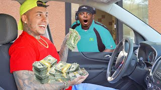Tipping Drive Thru Employees DOUBLE Their PAYCHECK.. (emotional)