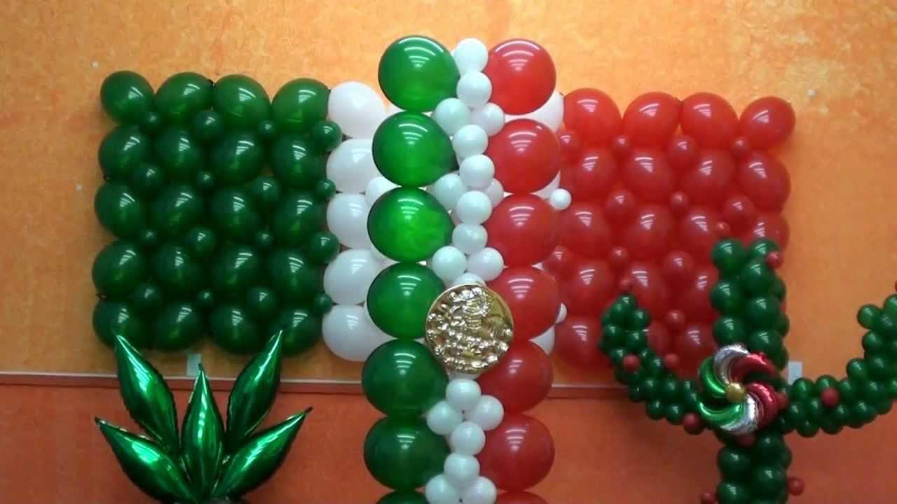 Decoracion Septiembre Mes Patria ~ columna con globos plana chasty  YouTube