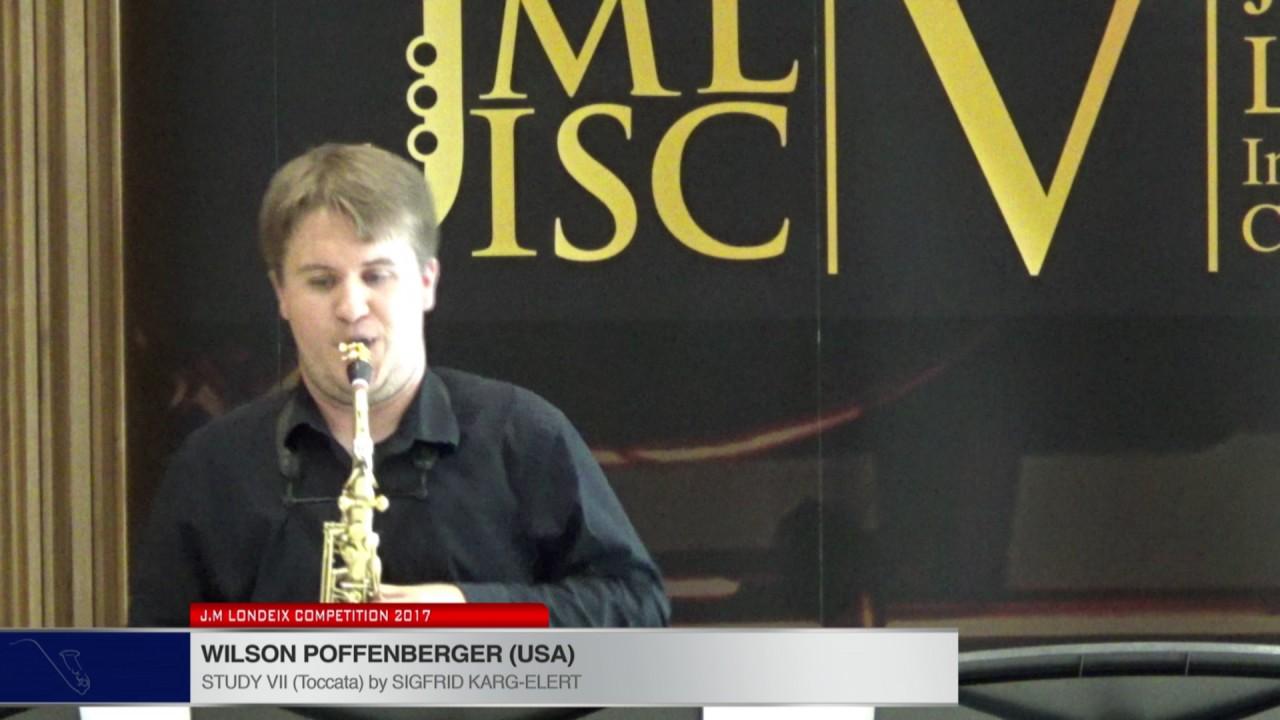 Londeix 2017 - Wilson Poffenberger (USA) - VII Toccata by Sigfrid Karg Elert