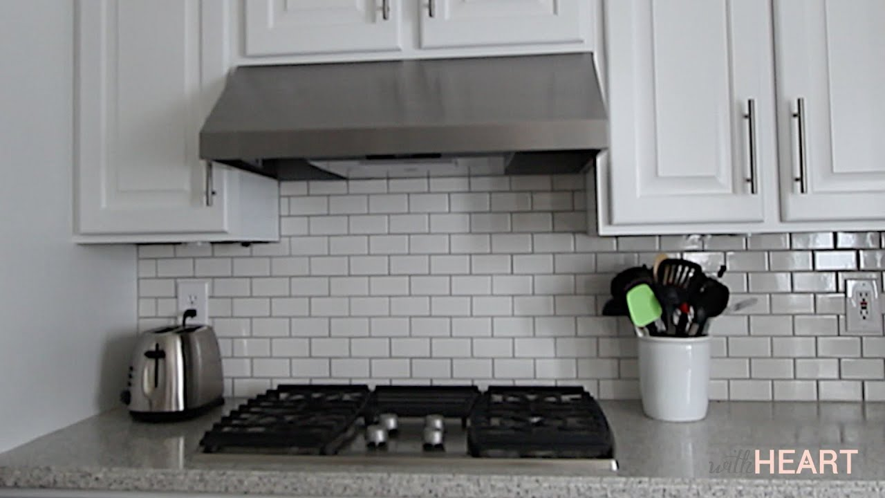 Kitchen Hood Replacing Our Kitchen Hood And Cooktop Withheart Youtube