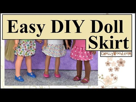 image regarding Free Printable Doll Clothes Patterns for 18 Inch Dolls titled Free of charge Doll Clothing Styles: Sew a Skirt for Hearts for Hearts 14 Inch Dolls