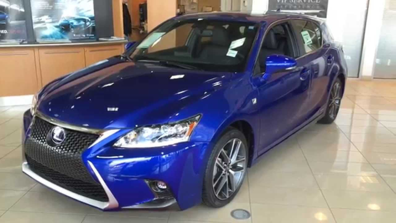 Lexus Rc F Sport >> 2014 Lexus CT 200h Hybrid - Ultrasonic Blue - F Sport Package Review - YouTube