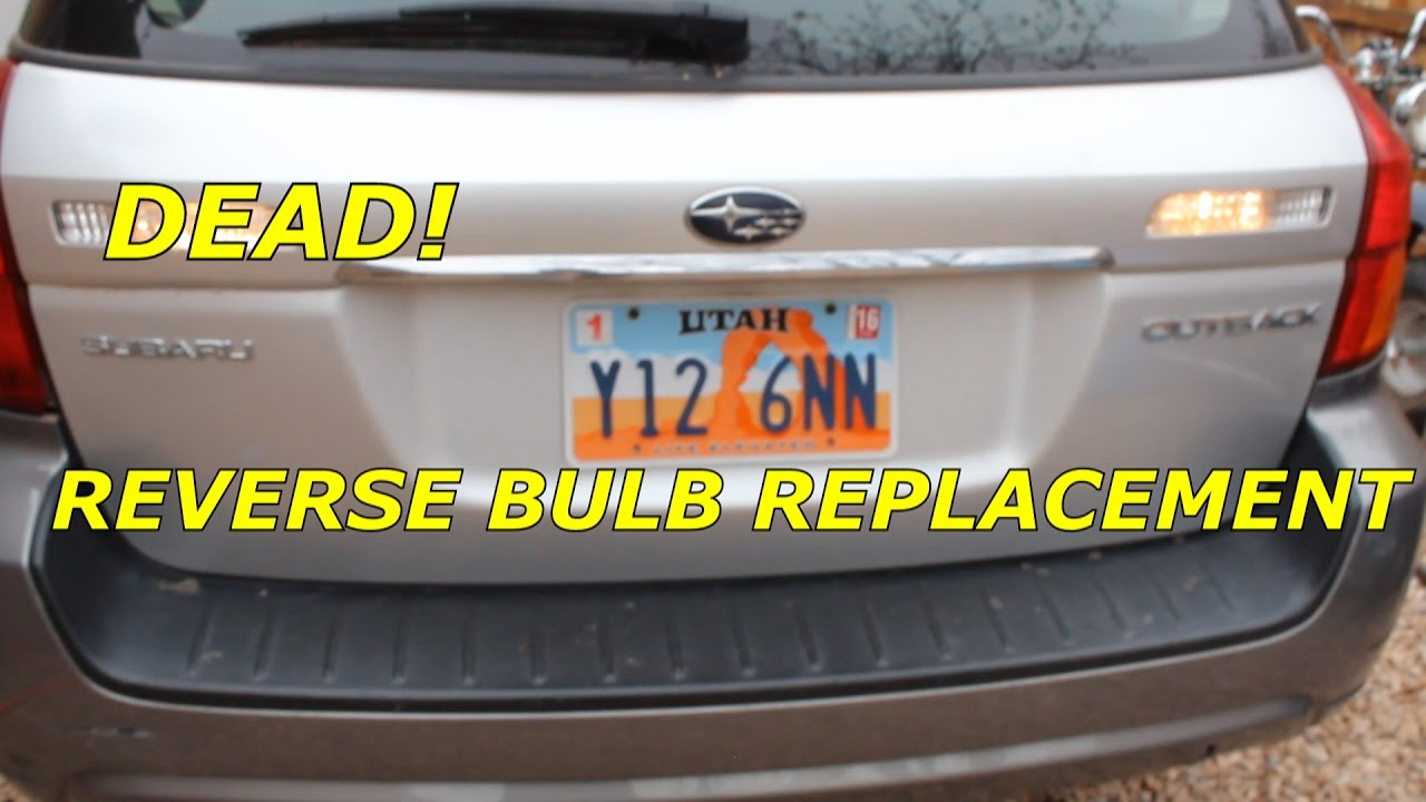 How To Replace Reverse Bulb On A 2007 Subaru Outback Youtube Wheel Diagram