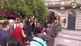 H.H the Great 14th Dalai Lama receives Warm Welcome in Frankfurt (Germany). 12rd July, 2015.