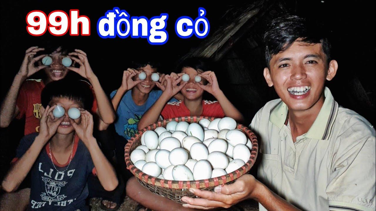 KẾT THÚC 99h SINH TỒN   Thử Thách TEAM SANG VLOG Ăn 100 Quả Trứng VỊT LỘN
