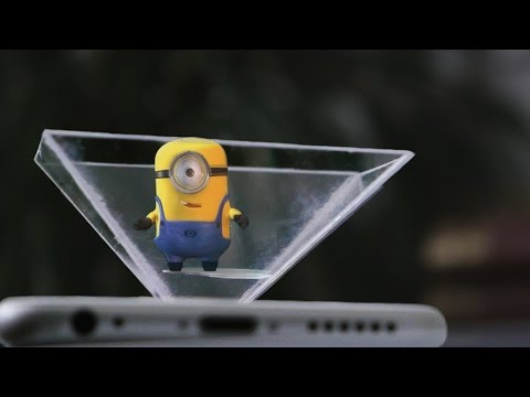 How To Make your own 3d hologram projector using CD case & smartphone