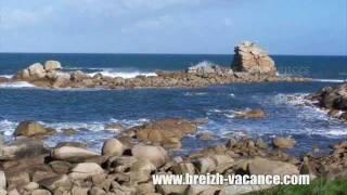Locations de vacances, les pieds dans l'eau, Plouescat, Bretagne, bord de mer