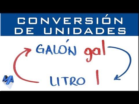 Convertir galón a litro | conversión de unidades - YouTube