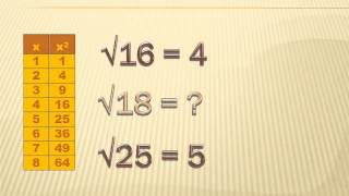 Number Sense - Approximating and Finding Square Roots: 8th grade math