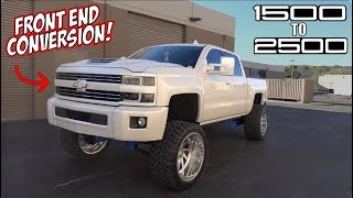 HE CONVERTED HIS 1500 SILVERADO TO A 2500!