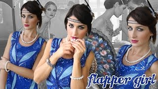 DIY Flapper girl 1920s Charleston total look Makeup Hair Outfit | TeneraLoca