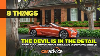 2021 Lexus LC500 Convertible   Eight Cool Features   CarAdvice