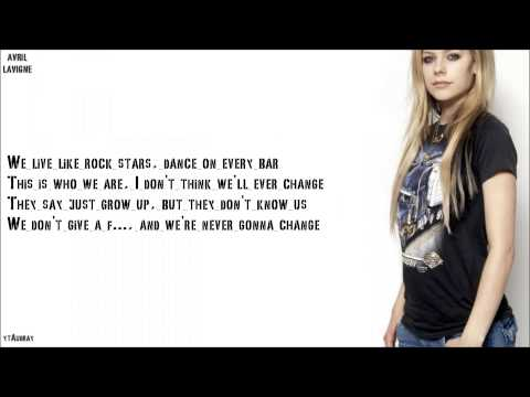 Avril Lavigne - Here's To Never Growing Up [Lyrics]