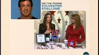 Sylvester Stallone calls his wife live on TV
