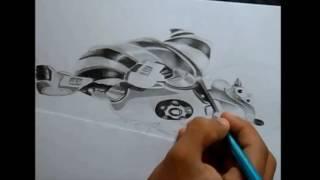 Drawing Scrat (A Era do Gelo: O Big Bang)