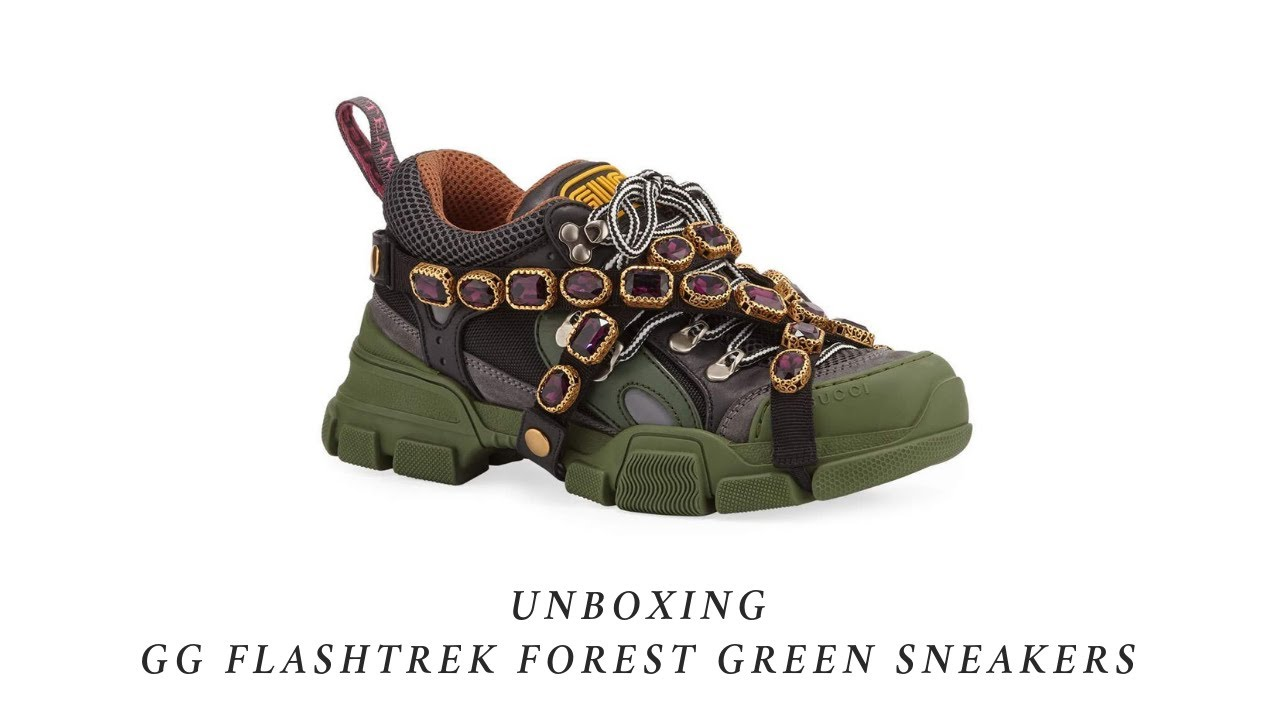 Gucci Flashtrek Green Sneakers Unboxing