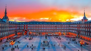 The plaza mayor (english main square) was built during philip iii's reign (1598–1621) and is a central in city of madrid, spain. it located only...