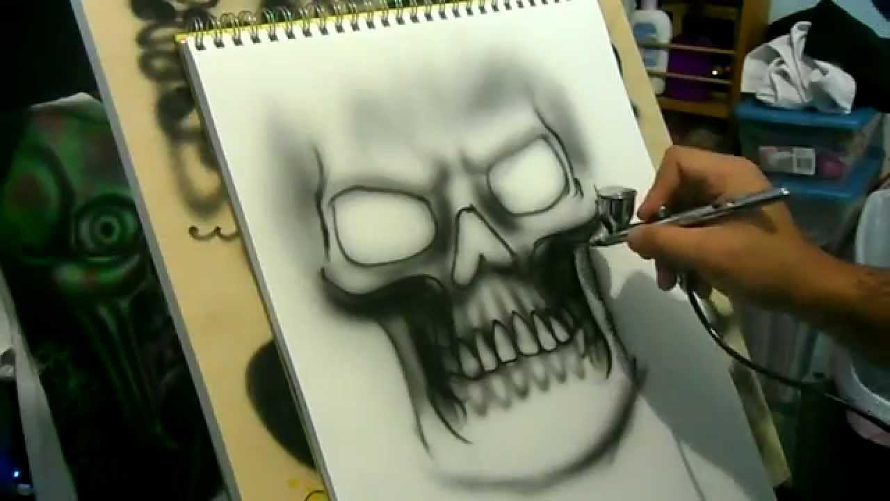 Speed Painting Airbrush Simple Grim Reaper Iwata Eclipse