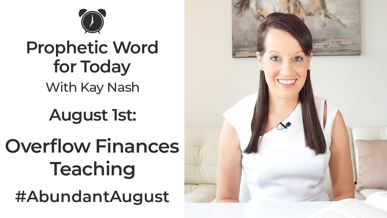 Prophetic Word for Today ( August 1st)