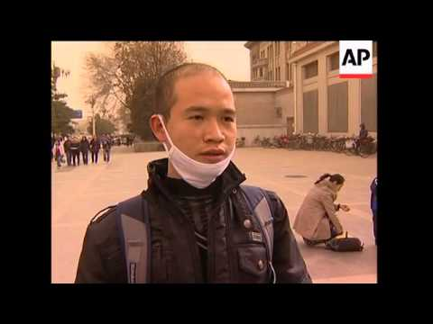 AP pix of Beijing, HKong as sandstorms across China prompt health warnings