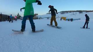 Gopro 7 Snowboarding. Yakutsk