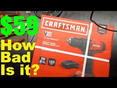 Craftsman V20 Drill Driver (Teardown and Test)