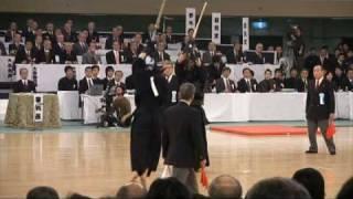 寺本選手の面がきまる場面!! 4回戦 第56回全日本剣道選手権大会 2008...