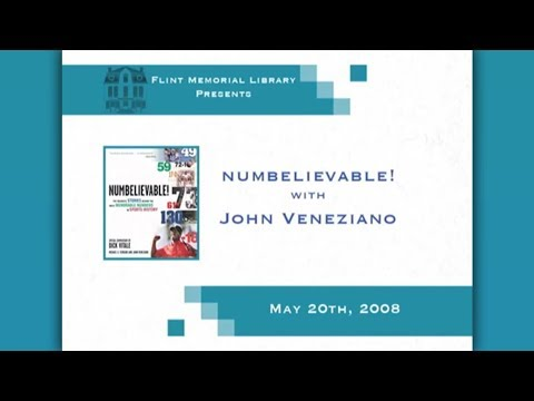 Flint Memorial Library Presents Numbelievable! With John Veneziano May 20th, 2008