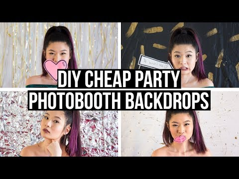 4 DIY Cheap and Easy Dollar Store Party Backdrops | Eva Chung